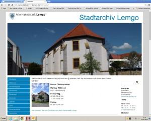 Neue Internetseite des Stadtarchivs Lemgo