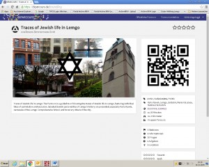 Internetseite der mobilen App