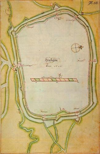 Der sog. Schwedenplan (Stockholm, Krigsarkivet)