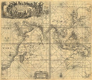 Besitzungen der VOC in Ost-Indien, Karte von Van Keulen (Johannes van Keulen [Public domain], via Wikimedia Commons)
