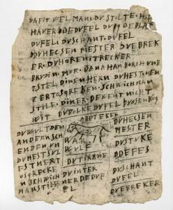 Auszug aus den Schmähbriefen gegen David Welman, 1642 (StaL A 4694)