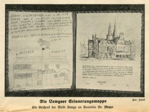 Original des Schmähbriefs gegen David Welman, Lippische Post vom 16.01.1939