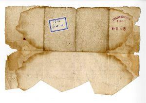 Urkunde Gert van Loon für Altarbild (StaL U 846 Rückseite)