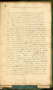 2. Brief des Jacob Henrich Zütterig an seine Schwiegermutter über die Lemgoer Hexenverfolgung (StaL A 2003)