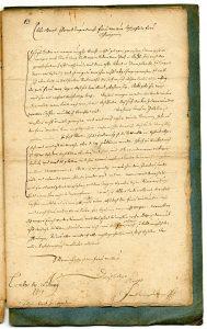 4. Brief des Jacob Henrich Zütterig an seine Schwiegermutter über die Lemgoer Hexenverfolgung (StaL A 2003)