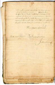 6. Brief des Jacob Henrich Zütterig an seine Schwiegermutter über die Lemgoer Hexenverfolgung (StaL A 2003)