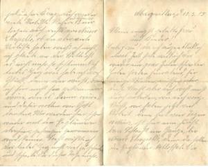 Brief vom 13.03.1915