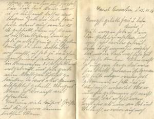 Feldpostbrief vom 15. November 1914 (a)