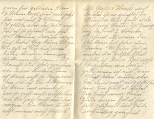 Feldpostbrief vom 15. November 1914 (b)