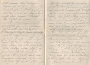 August Jasper an Bernhardine, Brief vom 11. November 1916 (Teil 2)