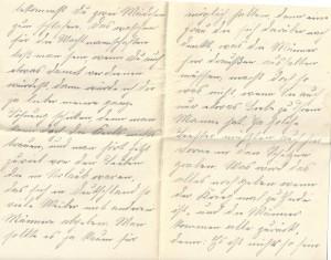 August Jasper an seine Frau Bernhardine, Seite 2 und 3 des Briefes vom 2. August 1915: