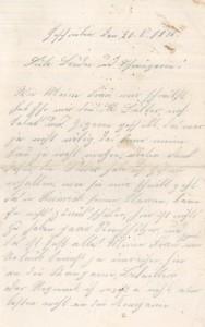 Brief Heinrich Echtermeyers an seinen Bruder, geschrieben am 20.8.1916. Seite 1.