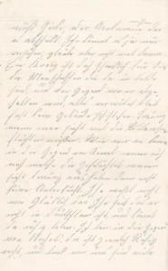 Brief Heinrich Echtermeyers an seinen Bruder, geschrieben am 20.8.1916. Seite 2.