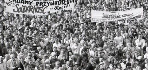 Manifestation de Solidarnosc en Pologne