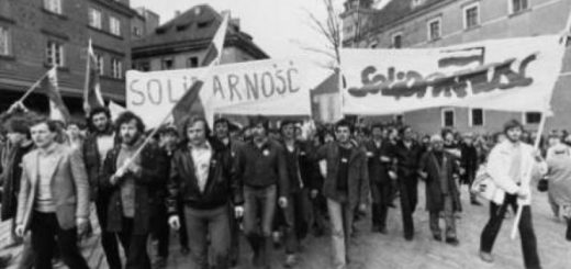 Manifestation de Solidarnosc à Varsovie le 1er mai 1982 (crédits : PAP/CAF)