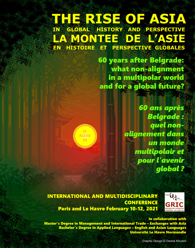 "Affiche du colloque ""The rise of Asia"" (2021)"