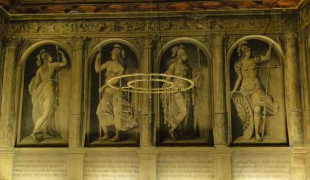 ¿Cuáles fueron las fuentes literarias de las grisallas del palacio del marqués de San Adrián en Tudela?