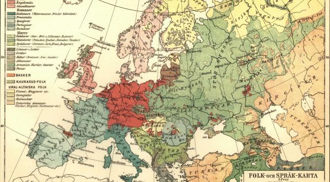 Mapa lingüístico europeo en 1907.