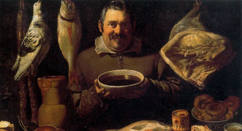 Master of the Amsterdam Bodegone: Bodegón. Formerly attributed to Alejandro de Loarte Cocina Rijksmuseum