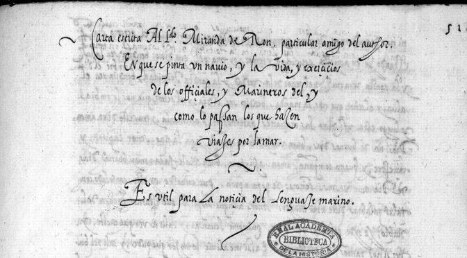 El vocabulario de la carta de Eugenio de Salazar al licenciado Miranda de Ron