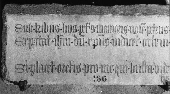 Offre de stage en édition électronique des inscriptions médiévales