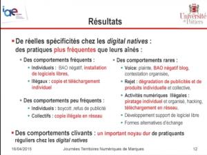 André Leroux, Marinette Thébault, Thomas Stenger, pratiques numériques de résistance des digital natives par rapport à leurs aînés