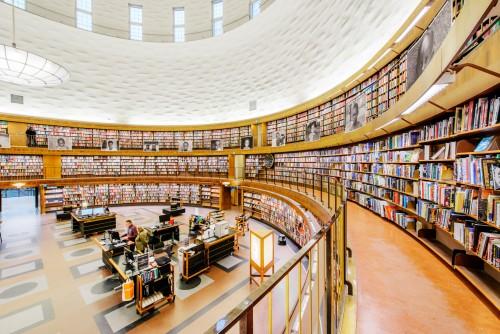 Bibliothèque Municipale de Stockholm, Image : Simon Paulin/imagebank.sweden.se