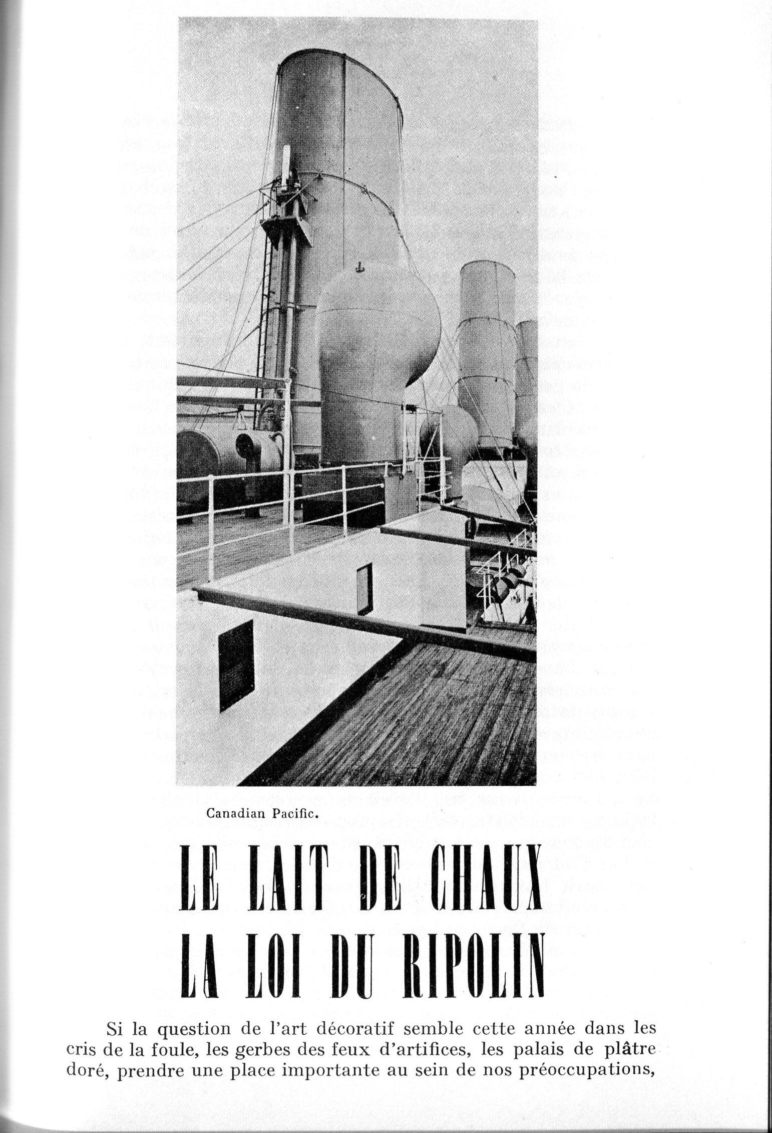 Le Corbusier, L'art décoratif d'aujourd'hui