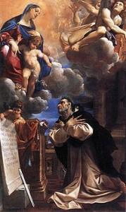 Apparition de Marie à saint Hyacinthe selon Lodovico Carracci.