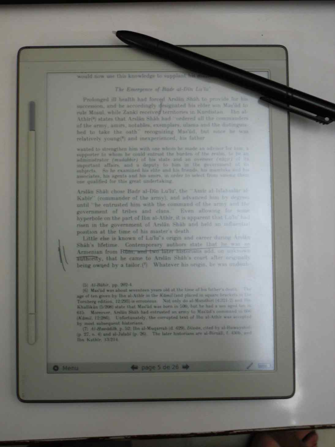 Irex avec annotation et stylet