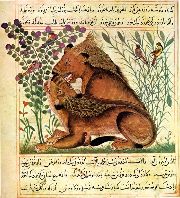 Lions (Manafi al-Hayawan, fin du XIIIe s.)