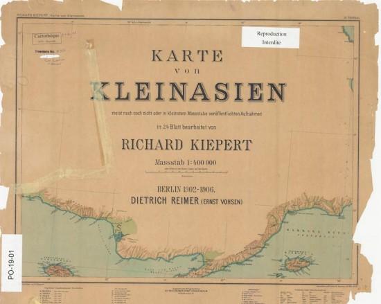 Couverture du recueil de Kiepert, Karte von Kleinasien