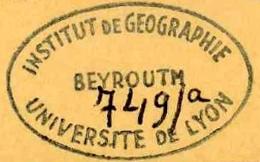 Tampon de l'Institut de géographie de Lyon