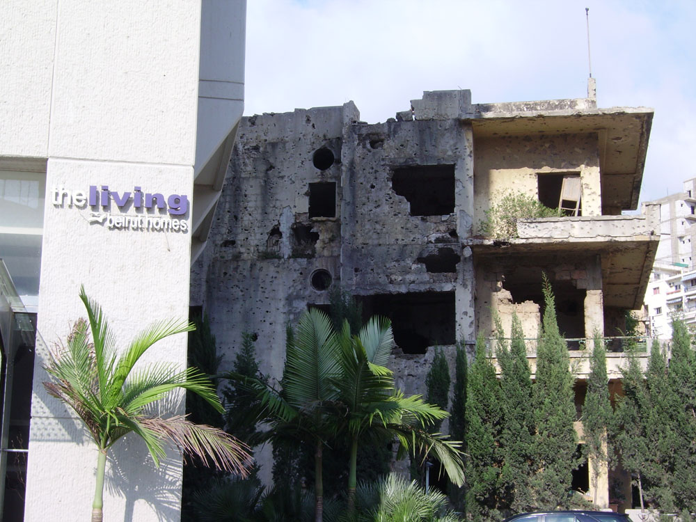 Beyrouth, ruines et cicatrices récentes, photo J. Baldi