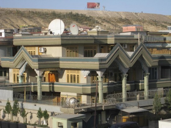 "One of Kabul's ""luxurious"" and ""secure"" villas. © Mona Khechen, 2008."