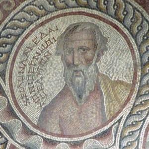 Chilon, détail de la mosaïque des Sages