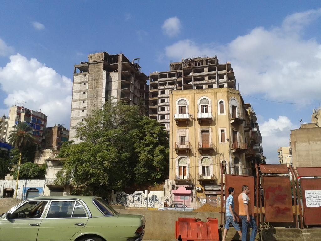 Au premier plan immeubles à anciens loyers