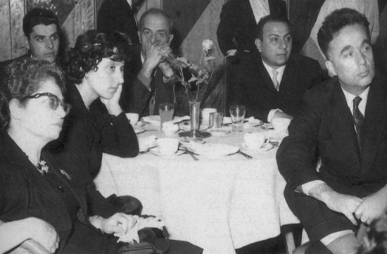 Saïd Aql (à droite), Assy al-Rahbâny et Fayrouz