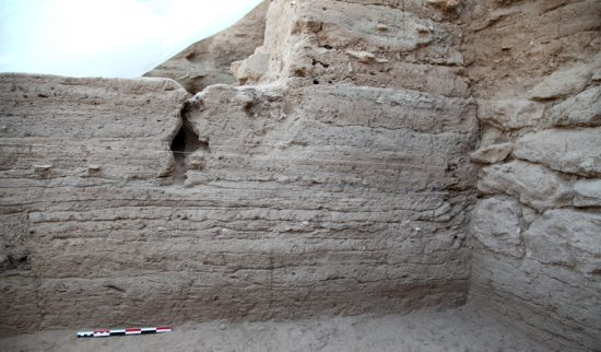 Secteur A2 Ouest, détail de la stratigraphie, vue vers le sud-ouest © MAFKF.