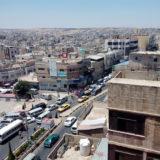 Centre-ville d'Irbid, habitat informel en parpaings