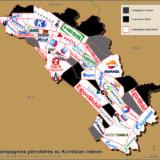 Figure 1 : Compagnies pétrolières au Kurdistan irakien (F. Grassaud, avril 2020)