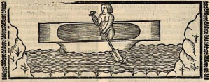 """Fernández de Oviedo, """"De los navíos o barcas de los indios"""", en """"La historia general de las Indias"""", libro VI, cap. IV."""