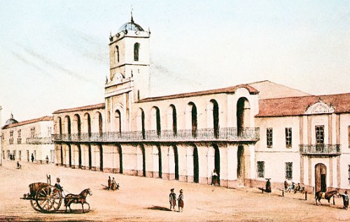El cabildo de Buenos Aires, por Emeric Essex Vidal.