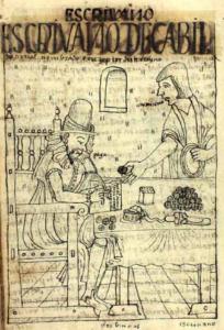 Escribano de cabildo. Guaman Poma, Nueva corónica y buen gobierno (1615)