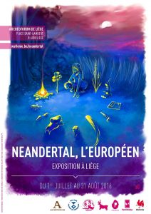Affiche expo Neandertal
