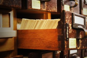 Card Catalog from the Main Reading Room of the Library of Congress, via Wikimedia Commons