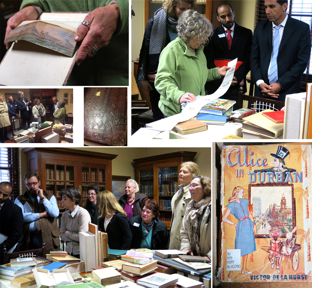 Some pictures from Tanya Barben's hands-on tour for the preconference attendess of some of the treasures of UCT's Special Collections.