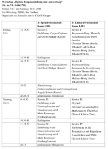 Workshops Programm