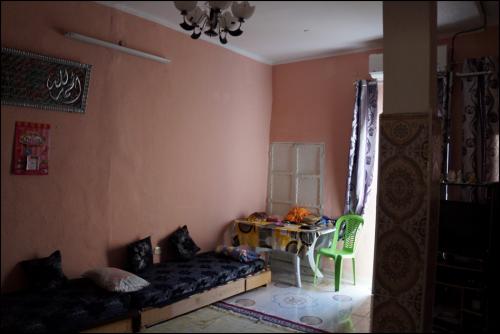 L'intérieur moderne de la maison de Fattouma.