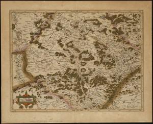 Gerhard Mercator, La partie meridionale de Lorraine, 1619